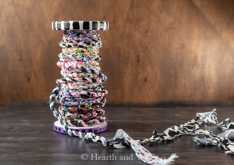 Spool of fabric twine