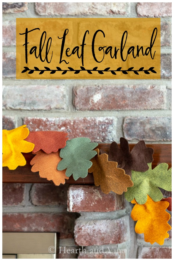 Fall leaf garland DIY for your mantel