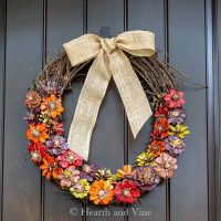 Make a Pinecone Flower Wreath for Fall