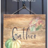Gather wood sign on front door