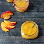 Sliced peaches and peach butter