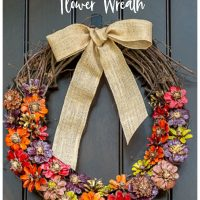 DIY Pine Cone Flower Wreath