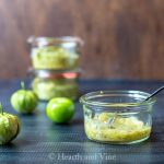 roasted tomatillo salsa and fresh tomatillos