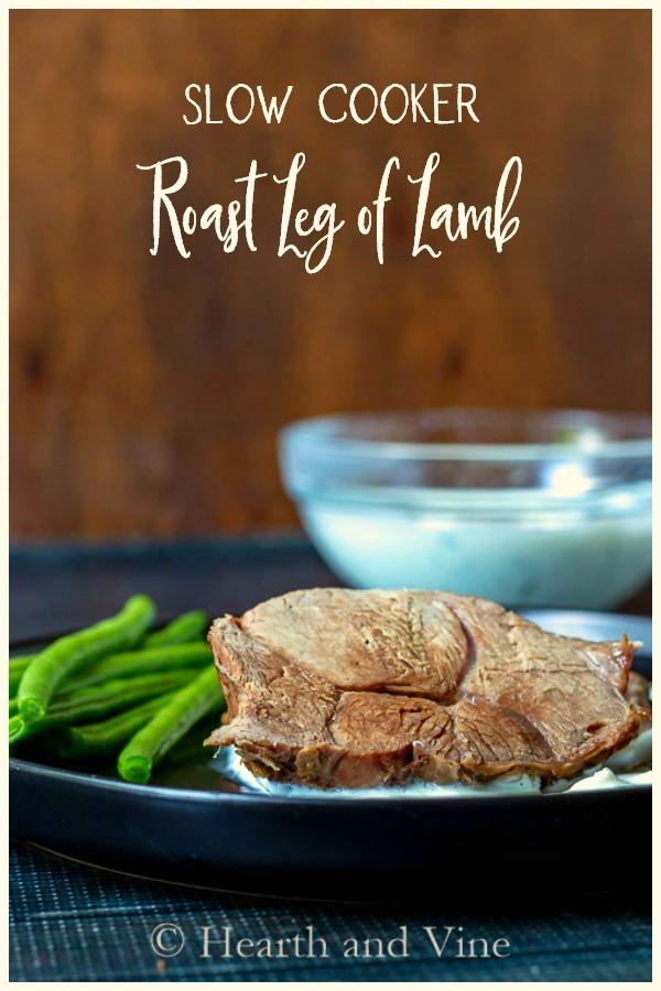 Slow roasted leg of lamb