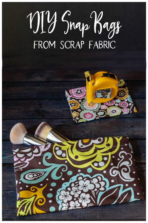Snap bags from scrap fabric