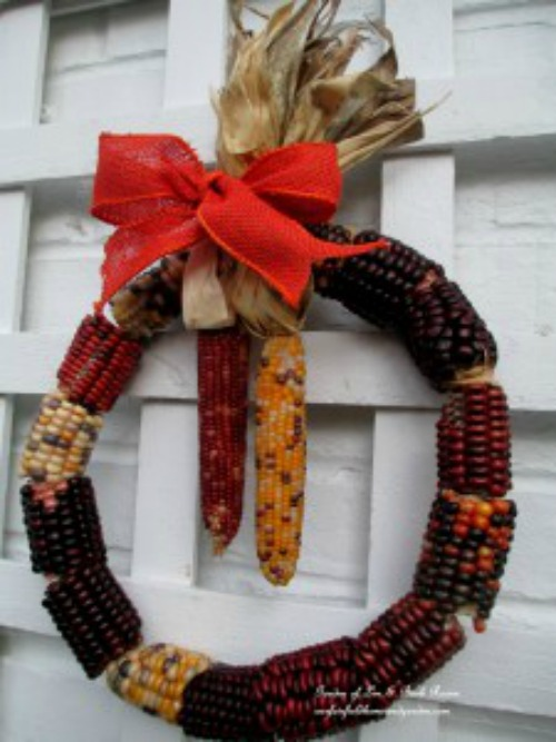 Indian corn wreath from Our Fairfield Home and Garden