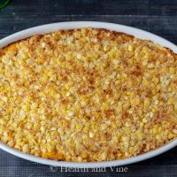 Butternut squash casserole from the oven