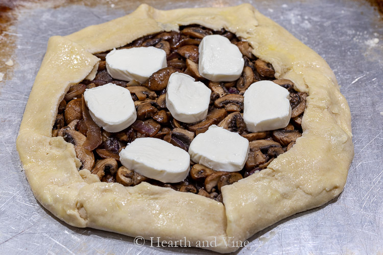 Galette with mushrooms & mozzarella