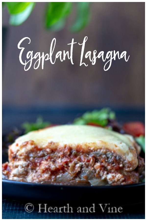 Slice of eggplant lasagna
