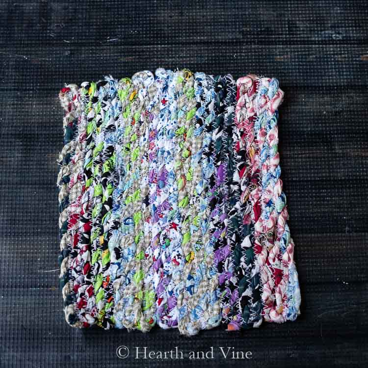 Fabric twine potholder