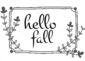 hello fall clip art