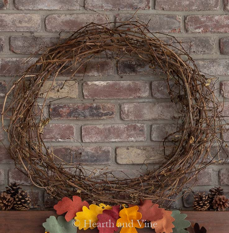 Natural grapevine wreath