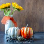 Alcohol ink pumpkins in tray
