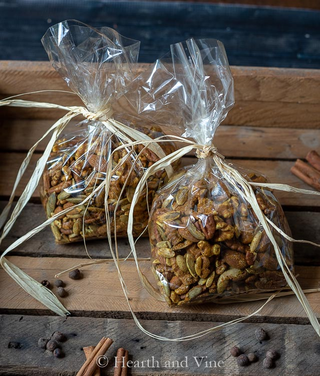 Bags of Moroccan spiced nuts