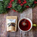 Bag of Christmas Morning tea and teacup