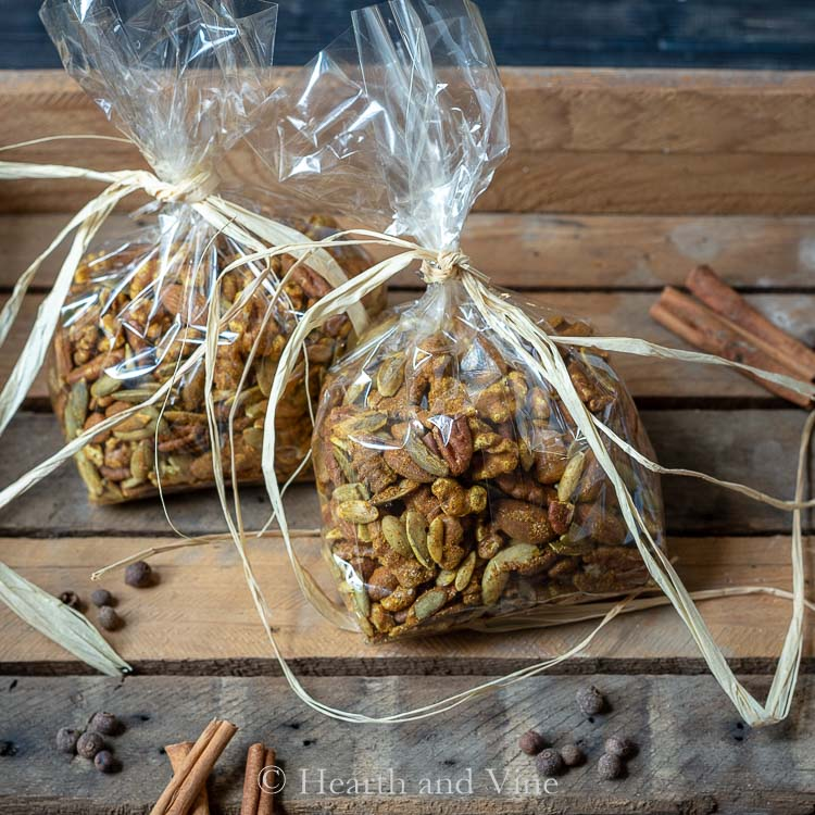 Moroccan Spiced Nuts in bags