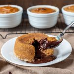 Pumpkin spice lava cake