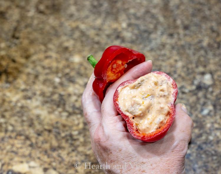 Individual stuffed Carmen pepper