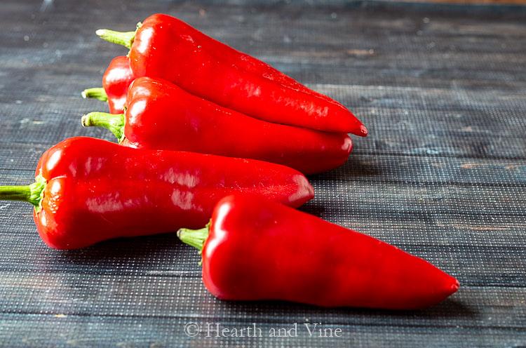 Fresh Carmen peppers