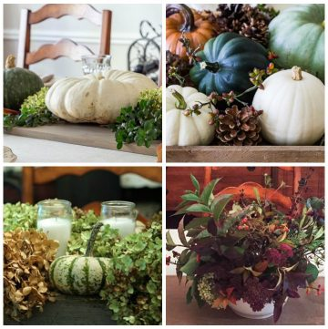 Four Thanksgiving centerpieces