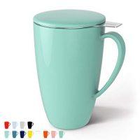 Porcelain Tea Mug with Infuser and Lid