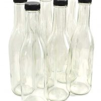 Clear Glass Woozy Bottles, 12 Oz - Pack of 6