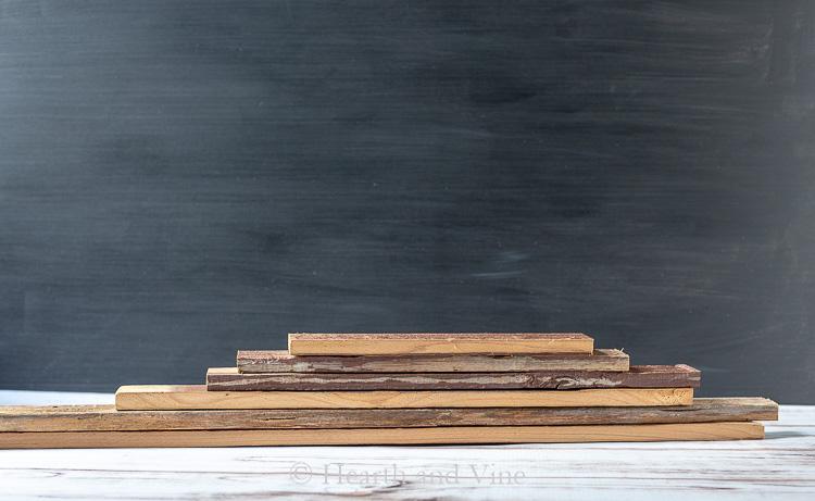 Stack of barn wood slats