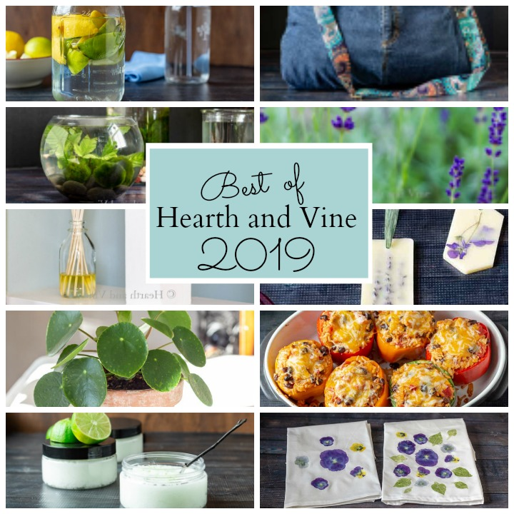 Graphic collage of top 10 Hearth and Vine posts from 2019
