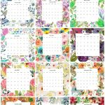 Portrait version of the 2020 floral calendar by month