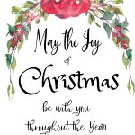 Watercolor floral Christmas Greeting sign