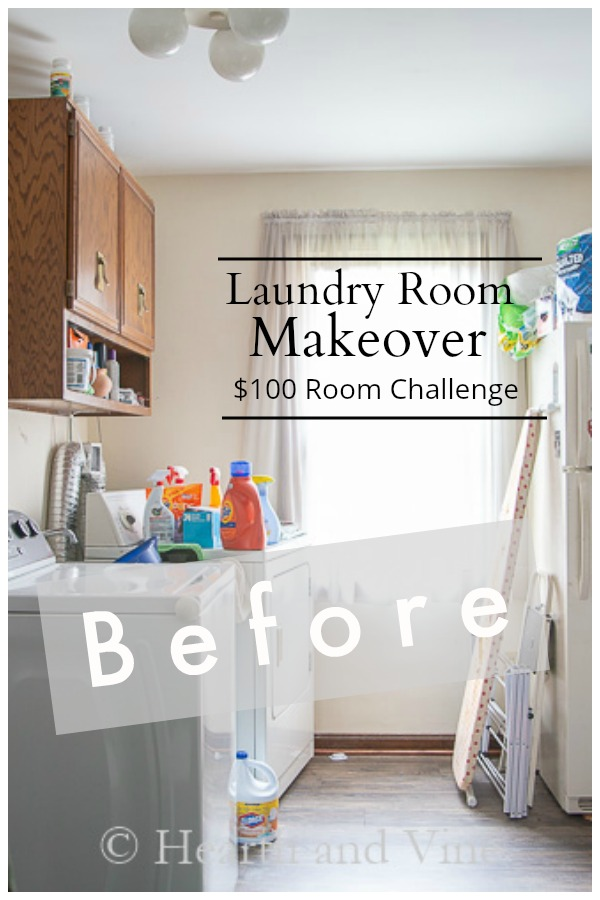 Before image of laundry room for makeover