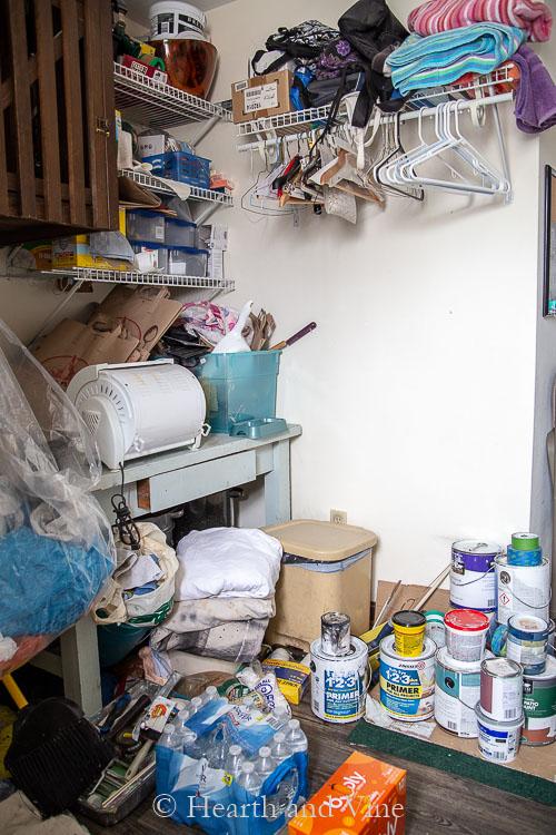 Laundry room corner mess