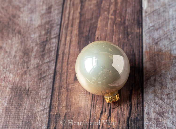 Champagne colored Christmas ball ornament
