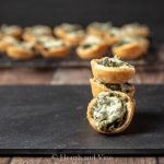 Cheesy spinach cups stack