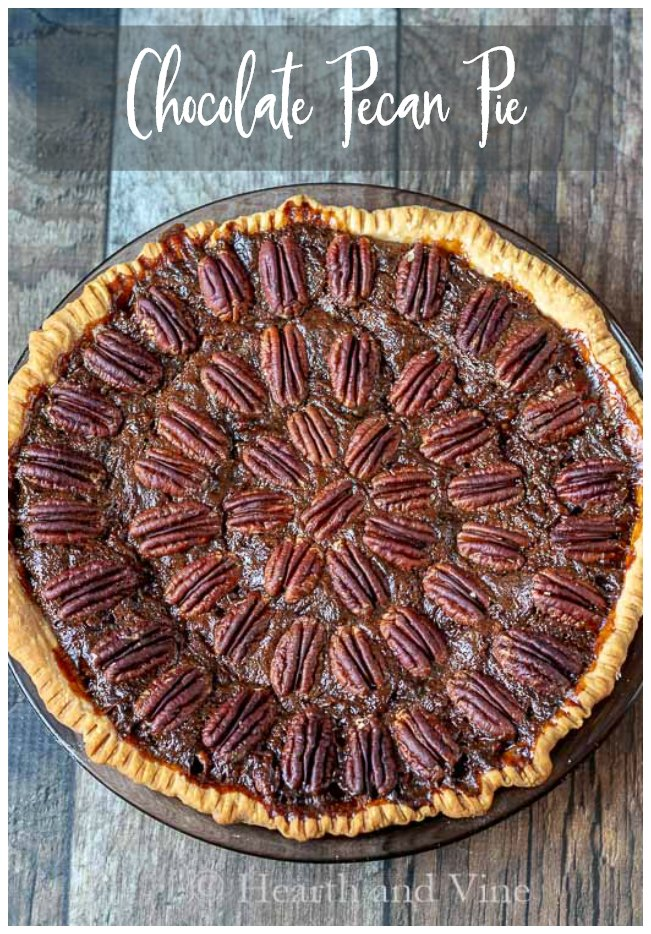 Whole chocolate pecan pie