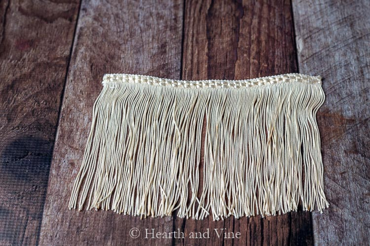 Cream colored fringe