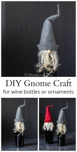 collage of gnome bottle toppers