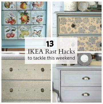 13 IKEA Rast dresser hacks. 13 cheap wood dressers transformed into designer furniture.