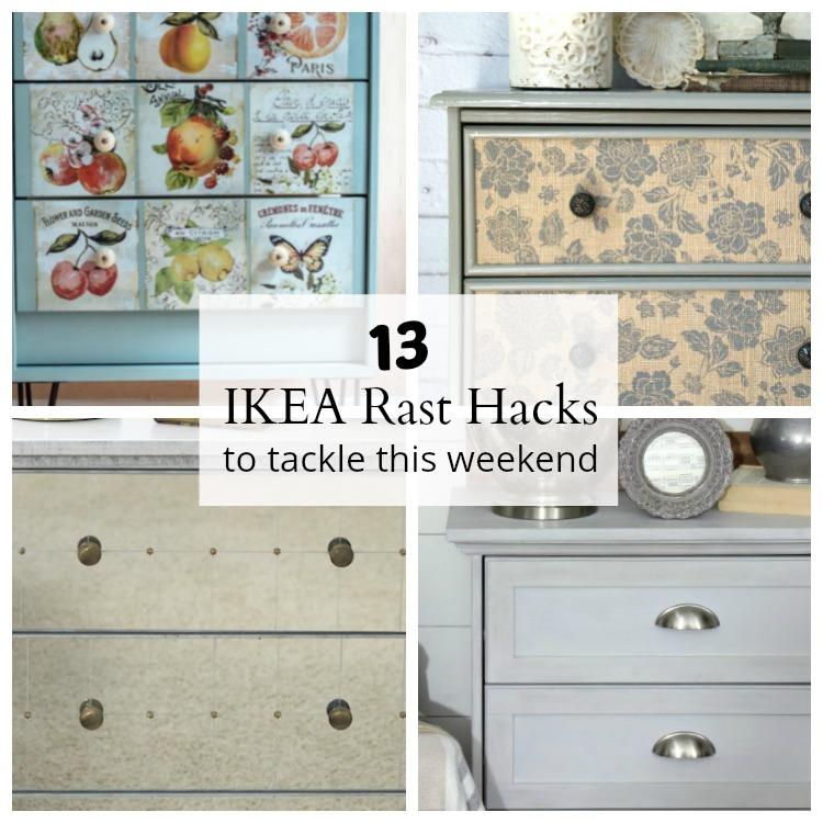 13 IKEA Rast dresser hacks. 13 cheap wood dressers transformed into designer furniture.