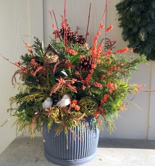 Design a Beautiful Bird-Friendly Winter Container Foraged from Your Yard