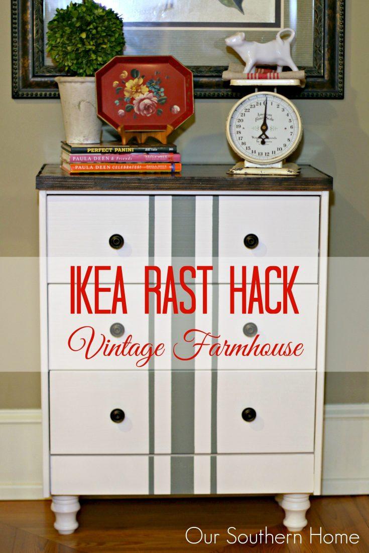 Vintage Farmhouse Ikea Rast Hack