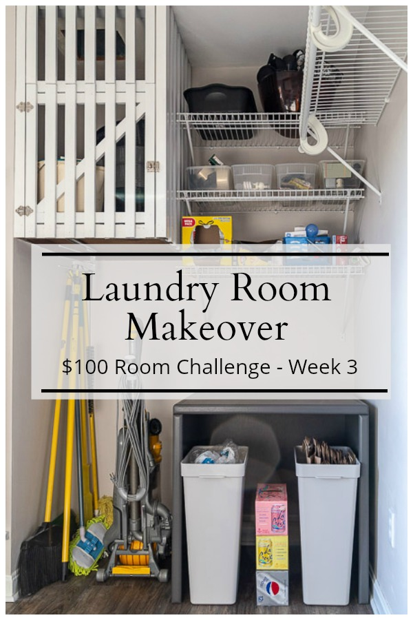 Organized laundry room nook