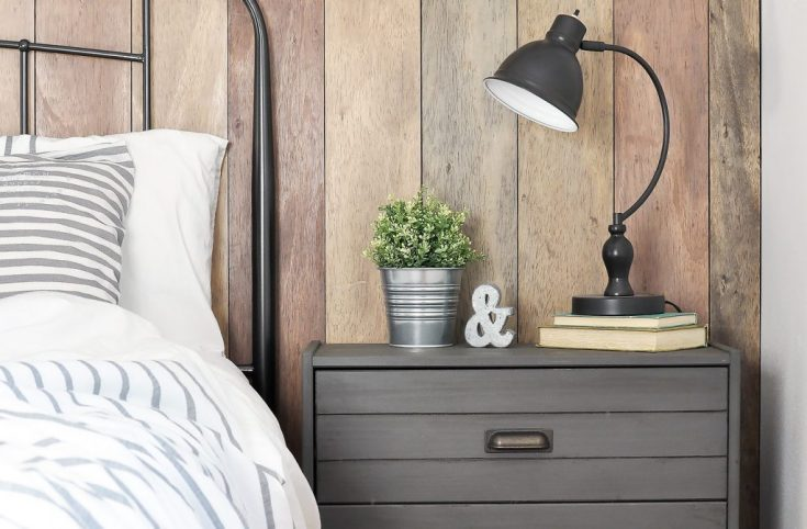 Rustic Industrial Night Stand | Ikea Rast Hack