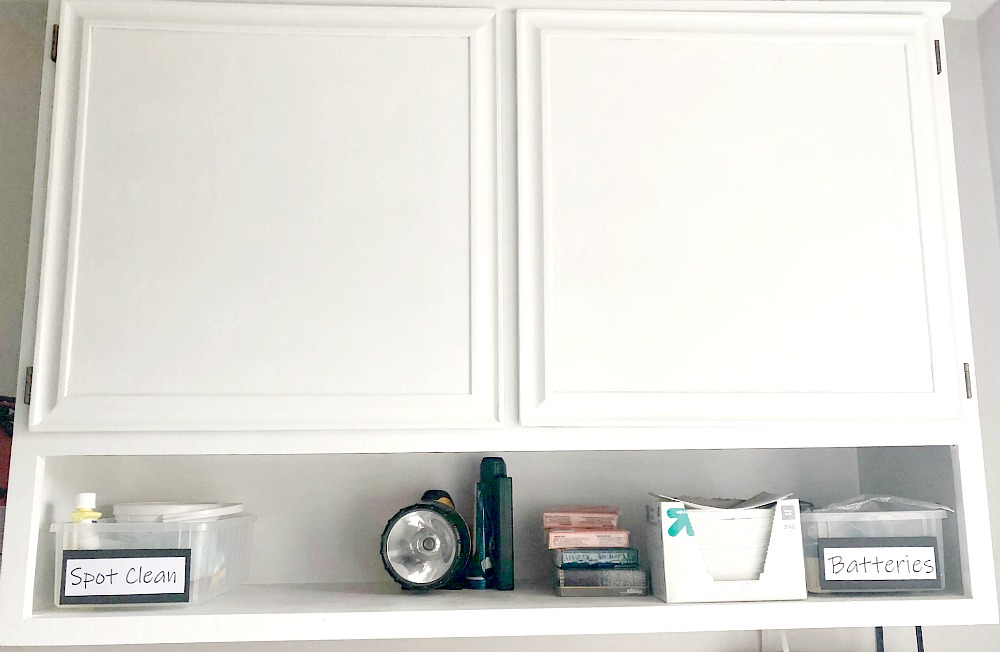 White cabinet with shelf