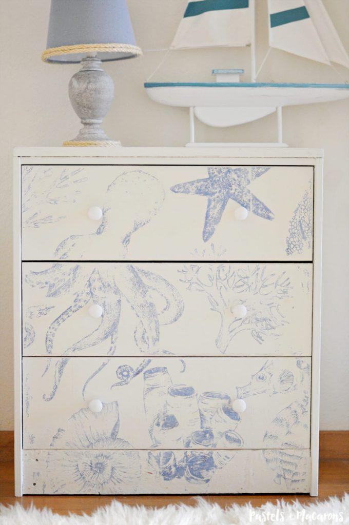 Ikea Rast Hack : A Unique Coastal Style Dresser Transformation