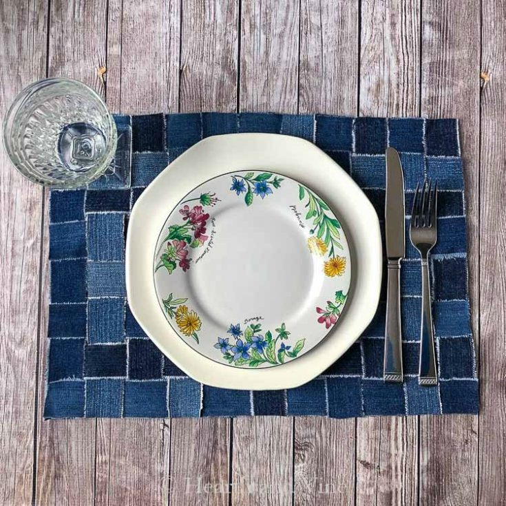 Upcycling Jeans into Placemats