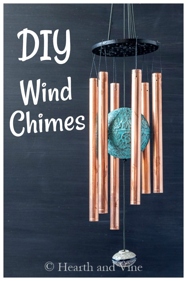 DIY wind chimes with copper pipe