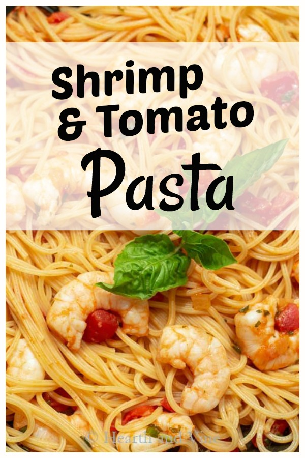 Shrimp pasta with red sauce