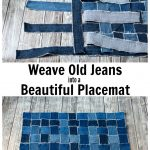 Weaving denim strips and place mat.