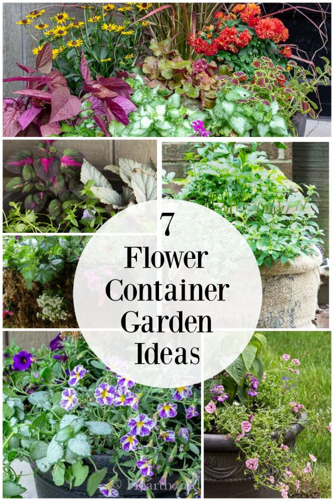 Container flower planters